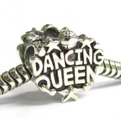 Sterling Silver Dancing Queen Bead for European Charm Bracelets