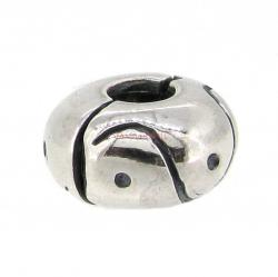 Sterling Silver Curve DOT Round Stopper Clip Lock Bead for European Charm Bracelets