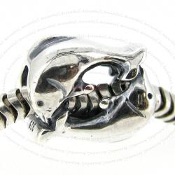 1x Sterling Silver Dolphin Dance Bead for European Charm Bracelets