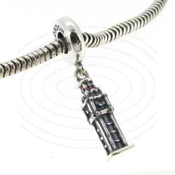 Sterling Silver London Big Ben Dangle Bead for European Charm Bracelets