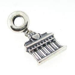 Sterling Silver Germany Berlin Brandenburg Gate Dangle Bead for European Charm Bracelets