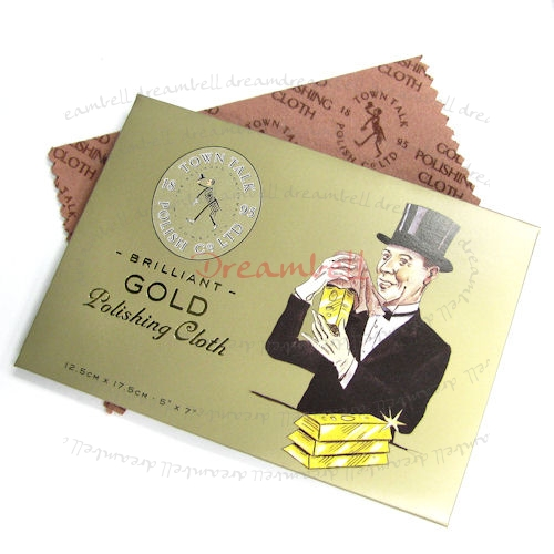 1x TOWN TALK Gold Polishing Cloth 125x175mm
