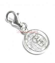 "Sterling Silver Chinese Word FORTUNE"" Dangle Charm for European Style  Clip on Charm"""
