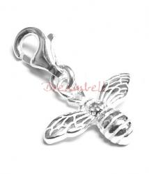 Sterling Silver HONEY BUMBLE BEE charm dangle pendant for European Style  Clip on Charm