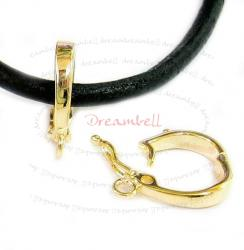 1x Vermeil Gold SILVER CHANGEABLE Bail PENDANT CLASP SLIDER with secure lock