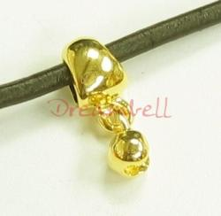 1x 14K Real Gold Plated Sterling Silver Pendant Crimp Bead Cover Bail Clasp