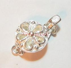 1x Sterling Silver Flower Clasp 1 strand