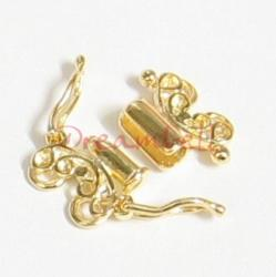 1xVermeil 14K Gold plated over 925 Sterling Silver  Butterfly 2 strand Lock Clasp