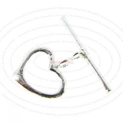 1x Sterling silver Sweet Heart Classic Toggle Clasp