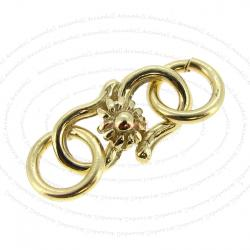 Vermeil 14K Gold plated over 925 Sterling Silver SUNFLOWER Hook Clasp 11mm Jump ring 5mm