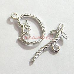 1x Sterling silver FLOWER Toggle Clasp 15.5mm