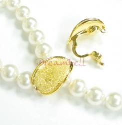 Real  GOLD STR  SILVER  STARDUST PEARL CLASP ENHANCER SHORTENER