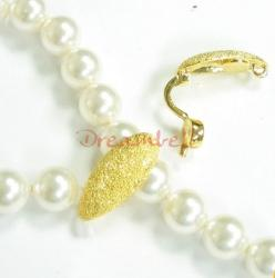 1x Real Gold  SILVER  STARDUST PEARL CLASP ENHANCER SHORTENER