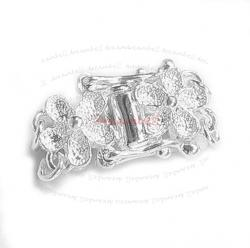 1x STERL SILVER 2-STRAND Stardust FLOWER PEARL BOX CLASP