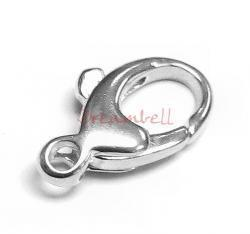 Sterling Silver OVAL CAST BALLOON Lobster Clasp 6.5x13.5mm