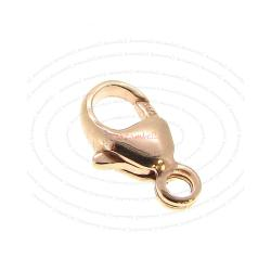 14k Rose Gold Filled Oval Cast Balloon Lobster Clasp 5mm x 9.5mm