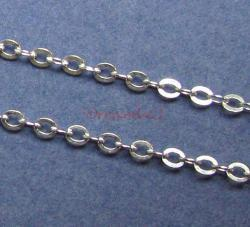 "12"" x Sterling Silver bead Anchor Rolo Cable Round Link Chain"