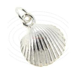 Sterling Silver Sea Shell Dangle Charm 12mm