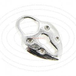 STERLING SILVER LOVE HEART LOCK DANGLE CHARM PENDANT 10.6mm