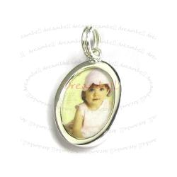 1x STERLING SILVER Photo Frame Pendant Charm