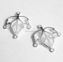 2x Sterling SILVER Maple leaf Chandelier Earring Wire Connector