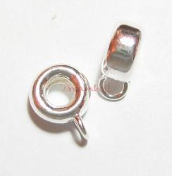 2 x Sterling Silver Pendant Charm Carrier Connector for European Clip on Charm