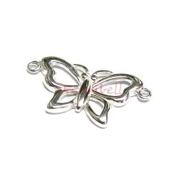 1 x Sterling silver Butterfly Pendant Link Connector 26mm