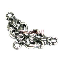 1x Bali Sterling Silver Flower Bead Link Connector 25.5mm