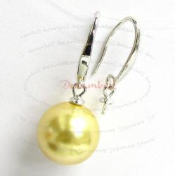 2x Rhodium Sterling Silver Earring French Ear Hook Wire 3mm Pearl Cup