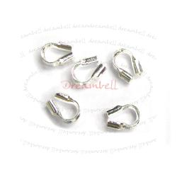 10x Bright Silver Filled .925 Cable and Stringing Thimble Wire guard (.021 Inch Hole)