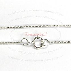 1x Sterling Silver SNAKE Chain Necklace 0.7mm w/ spring ring 16""