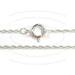 "1x Italian Sterling Silver 8R Rope Chain Necklace with Spring ring clasp 18"" .925"