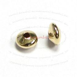 6x 14k Gold Filled Round Saucer Bead Spacer 4.7mm 2.5mm