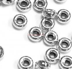 20x Sterling Silver RONDELLE Seamless Bead Spacer  4.5mm x 2.25mm