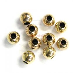 10x 14k Gold Filled Round Seamless Bead Spacer 4mm