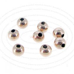 10x 14k Rose Gold Filled Round Seamless Bead Spacer 4mm