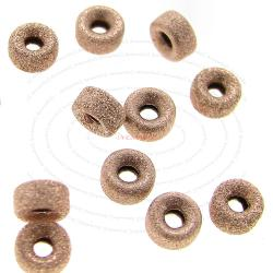 10x 14k Rose Gold Filled Stardust Rondelle Bead Spacer 3mm