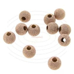 10x 14k Rose Gold Filled Round Stardust Bead Spacer 3mm