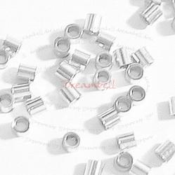 ~160 1gram Sterling Silver CRIMP BEAD 1x1.1 mm Tube Spacer