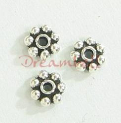20x 925 BALI Sterling Silver DAISY SPACER Beads 4mm