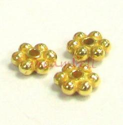 20x Vermeil Gold Plated over Sterling Silver DAISY SPACER Beads 3.5mm