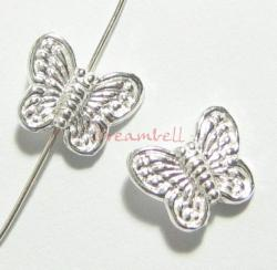 2x Sterling silver Butterfly Spacer Bead 10mm x 8mm