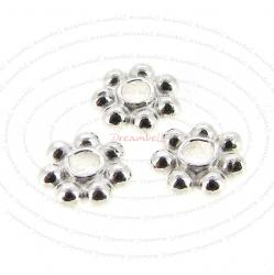 20x Bright Sterling Silver DAISY Round SPACER Bead 4mm