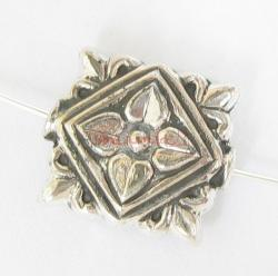 1x  Bali Sterling Silver Flower Focal Bead 15.3mmx 13.9mm