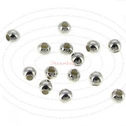 100x Sterling Silver Seamless Small hole bead spacer 2mm
