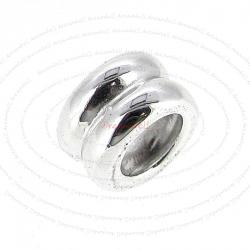 Sterling Silver Round Spacer Bead Tube for European Charm Bracelets