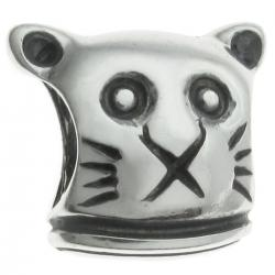 Sterling Silver CAT Bead for European Charm Bracelets 11.2mm