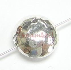 2X STERLING SILVER Hammered Round FOCAL Bead 12mm