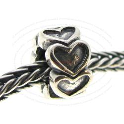 Sterling Silver Endless Love Heart European Style bead for European Charm Bracelets