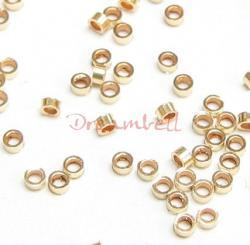 50x 14k Gold Filled Crimp Beads 2x1mm Tube 2mm